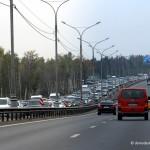 Пробка на дороге в аэропорт Домодедово
