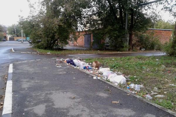 Мусор на улице Заводская