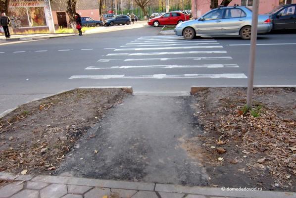 Пешеходный переход на улице Советская