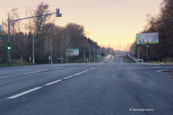 "Разметка на Каширском шоссе около ""Грин Парка"""