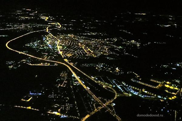 Вид на Домодедово сверху