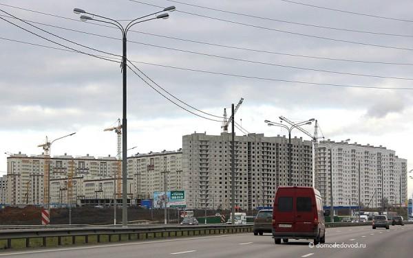 Новое Домодедово. Вид с автомагистрали М4