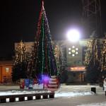 Ели у здания администрации Домодедово