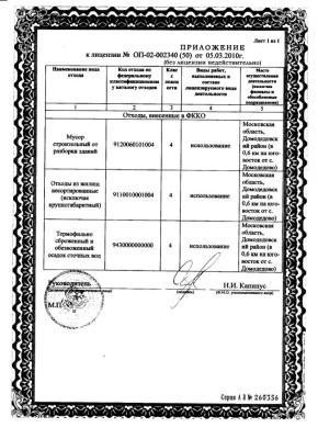 """Лицензия ООО """"Софья-Луиза"""""""
