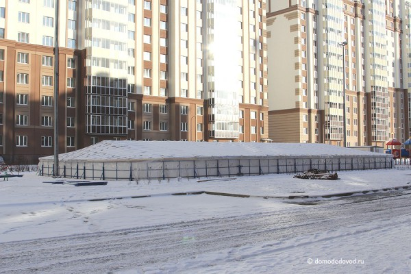 Хоккейная коробка во дворе Нового Домодедово