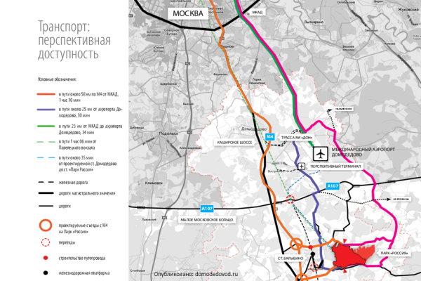 Транспортная доступность с учетом перспективных дорог