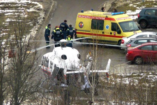 Вертолет и автомобиль «Медицины катастроф»
