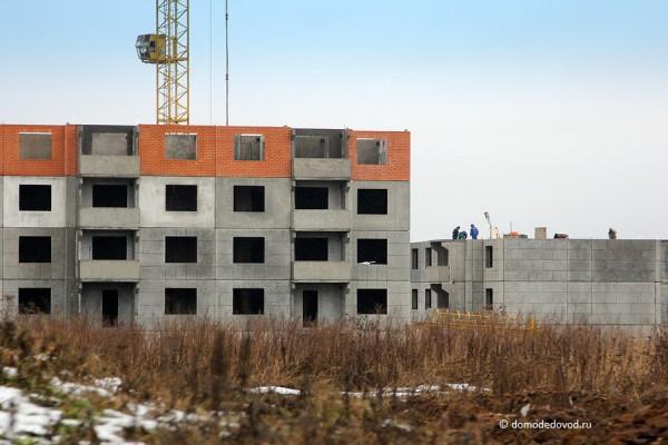 Строительство одного из корпусов ЖК «ДОМодедово Парк»