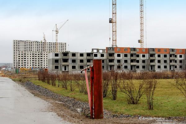 ЖК «ДОМодедово Парк» - общий вид от офиса продаж