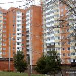 Вид от общежития на новостройку на ул. Текстильщиков