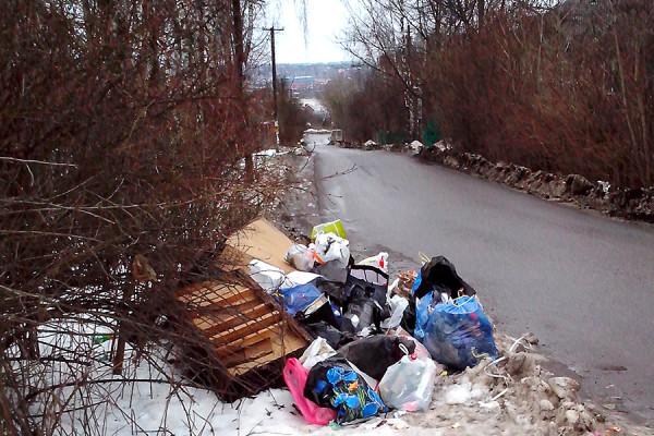 Свалка мусора в Новосьяново