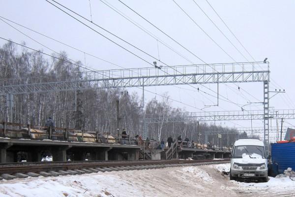 Платформа. Железная дорога Москва - аэропорт Домодедово