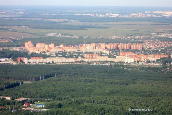 Вид на Домодедово с высоты птичьего полета