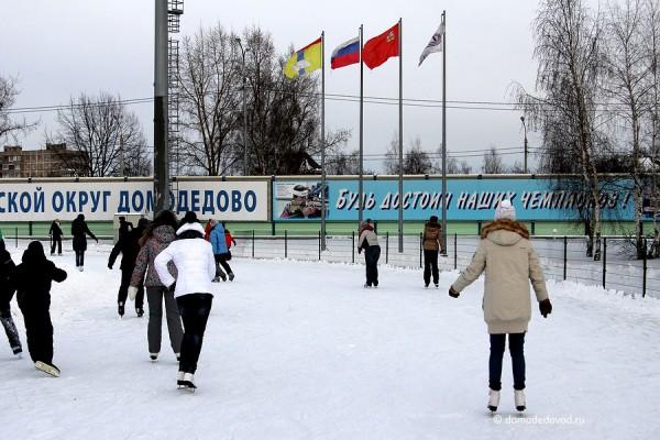 Каток на стадионе «Авангард». Фоторепортаж