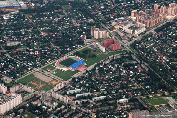 Вид на город Домодедово сверху