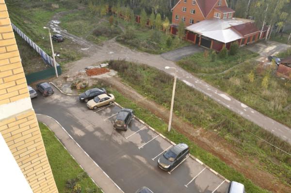 Дорога-дублер Каширского шоссе в Домодедово - улица Лунная