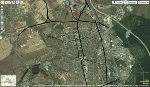 Схема дороги-дублера Каширского шоссе в Домодедово