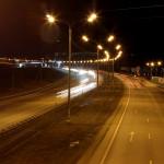 Дорога М4 Дон ночью
