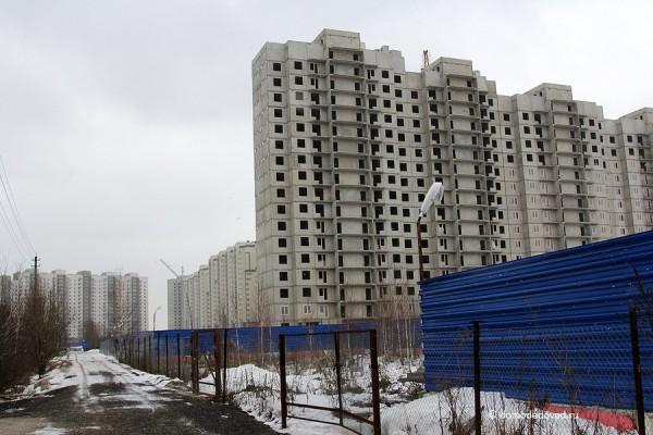 Новое Домодедово со стороны частного сектора