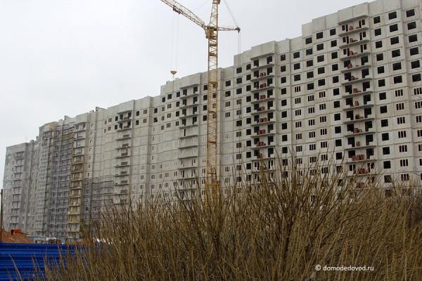 Вид на Новое Домодедово со стороны частного сектора