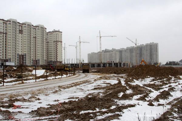 Вид на Новое Домодедово от д. Редькино
