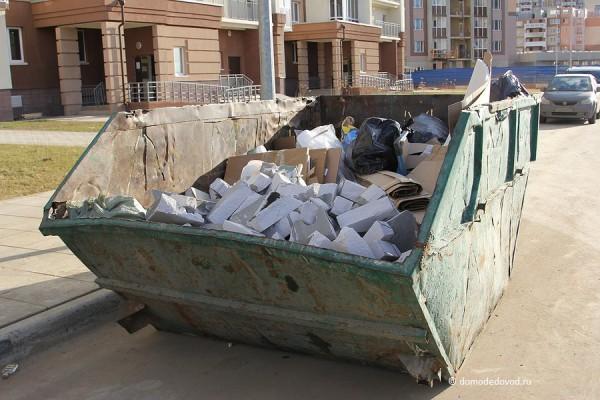Контейнер для строительного мусора.