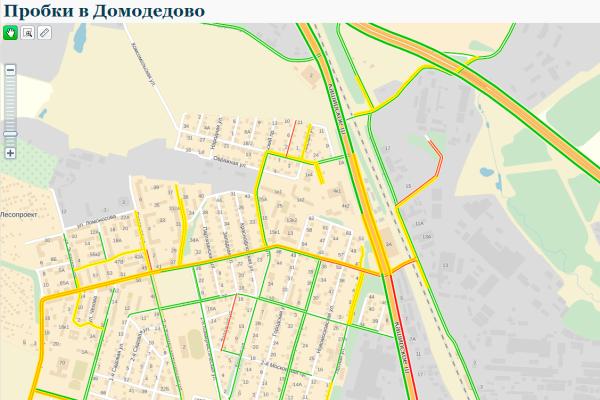 Утренняя пробка в Домодедово