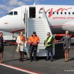 В Домодедово приземлился новый самолет авиакомпании «ВИМ-АВИА»