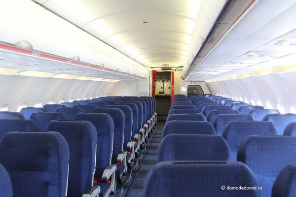 """Салон самолета Airbus 319 """"Вим Авиа"""""""