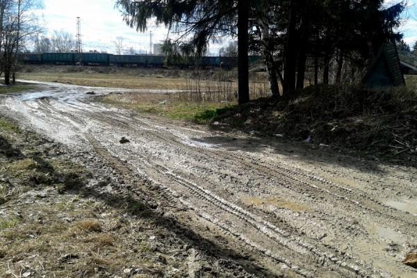 Грязь на дороге в Белых Столбах
