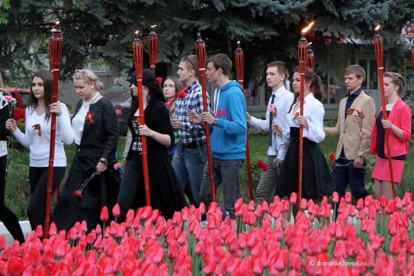 Факельное шествие на День Победы в Домодедово