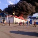 Пожар на рынке в Покрове