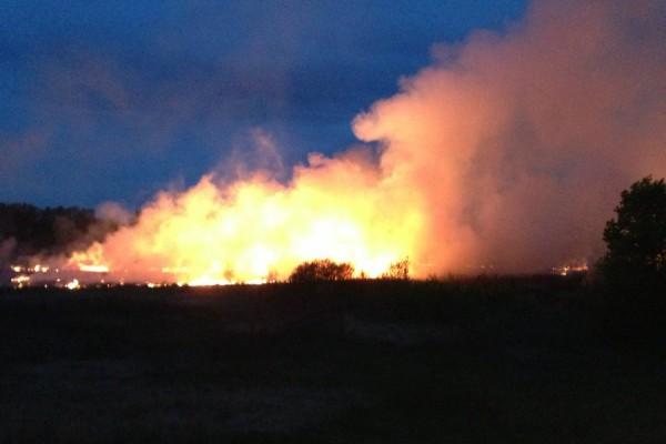 Пожар в Домодедово у М4