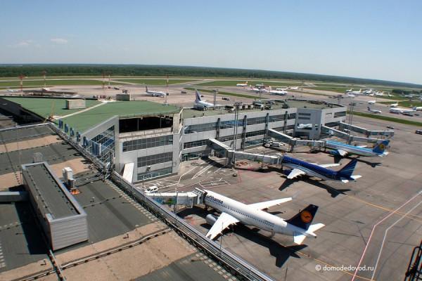 Аэропорт Домодедово. Вид с КДП