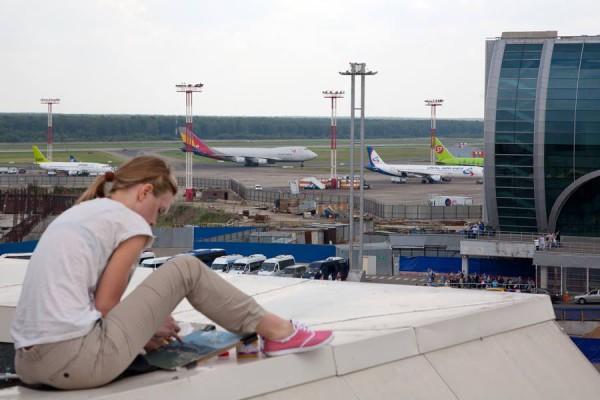 Художники в аэропорту Домодедово