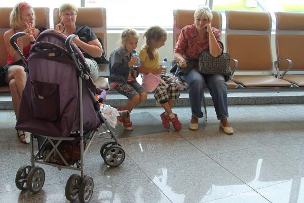 Беженцы из Украины в Домодедово.