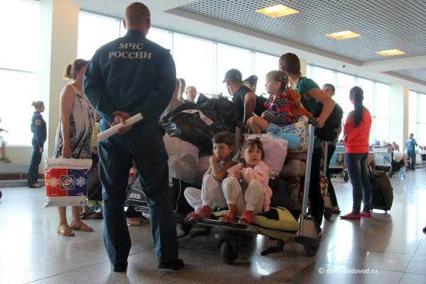 Беженцы из Украины в Домодедово