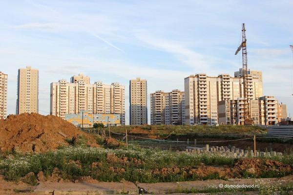 Вид на Южное Домодедово от д. Редькино