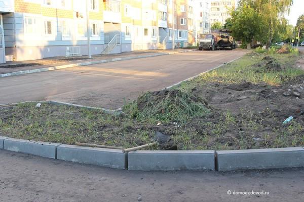 Новостройка СУ-155 на Ленинской. Благоустройство