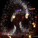 Огненное шоу и салют в Домодедово