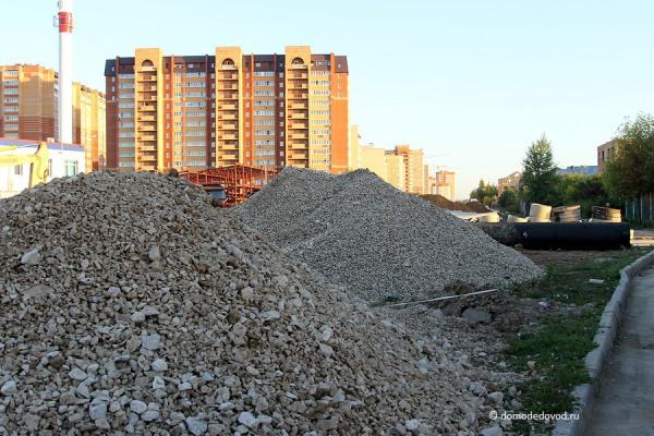 Строительство ул. Лунная в Домодедово