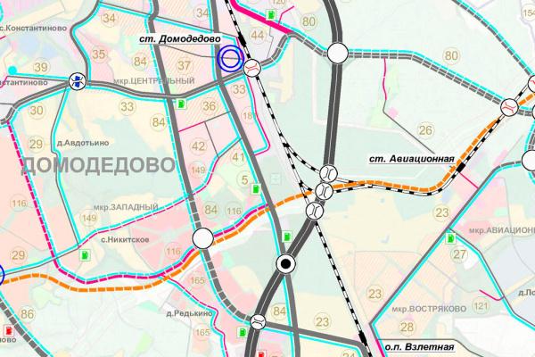Фрагмент генерального плана городского округа Домодедово