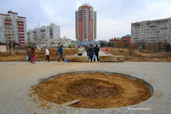 Олимпийская аллея: строительство продолжается