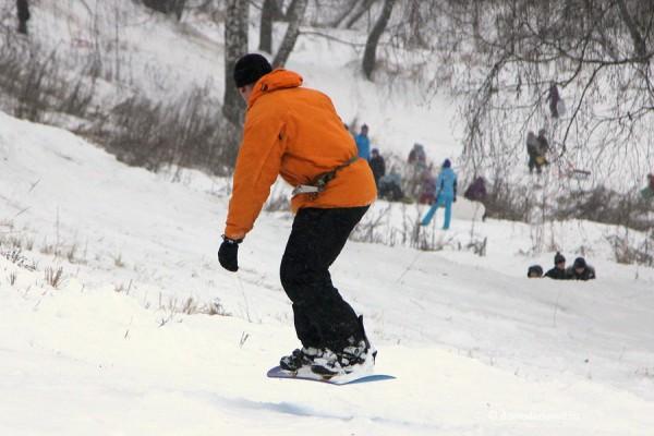 Катание на сноуборде в Домодедово