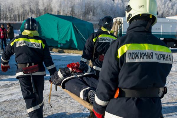 Аварийно-спасательные учения в аэропорту Домодедово