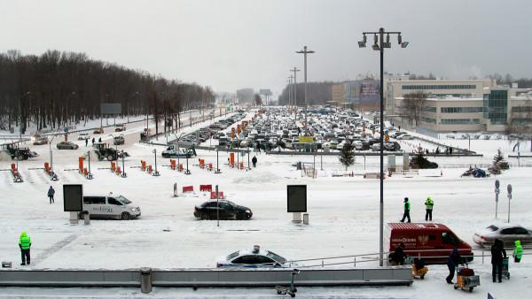 Паркинг в аэропорту Домодедово