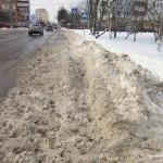 Односторонний тротуар на Кутузовском проезде