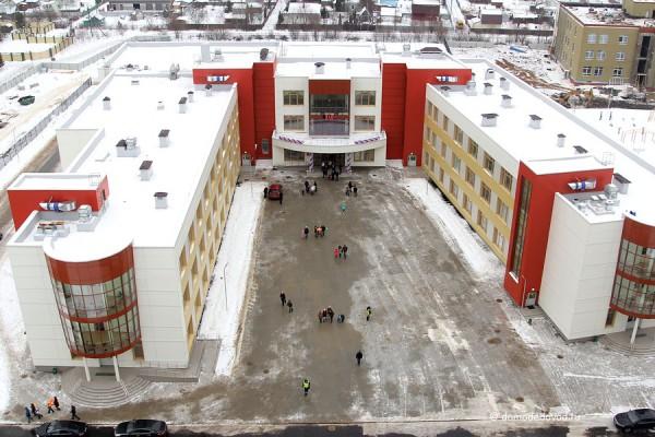 Новая  общеобразовательная школа №9 в Новом Домодедово. Вид сверху