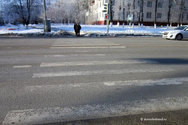 Пешеходный переход около остановки ул. Талалихина