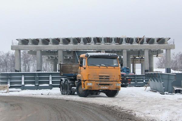 Строительство развязки на дороге А-105 около аэропорта Домодедово (1)